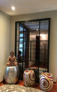 Espejo marco acero